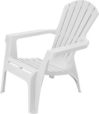 Adirondack Style Plastic Garden Patio Chair Lounger With Table