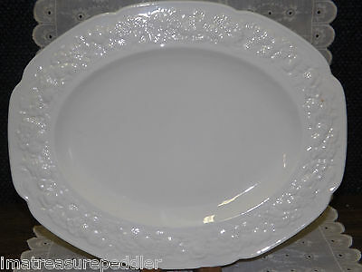 CROWN DUCAL china FLORENTINE pattern Oval Serving Platter - 12 1/4""