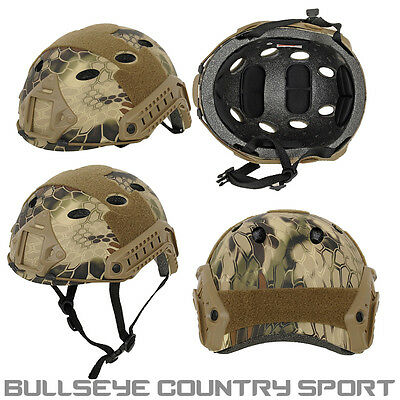 Emerson Airsoft Vented Fast Helmet Highland Camo Army Style
