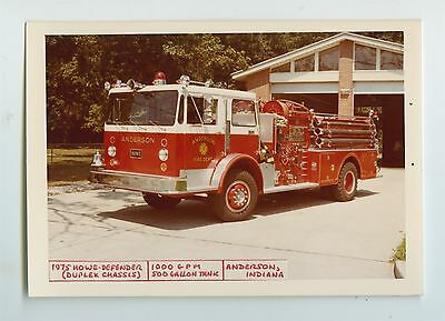 1975 Howe Defender Fire Truck Original Small Photo Anderson Indiana ft0470