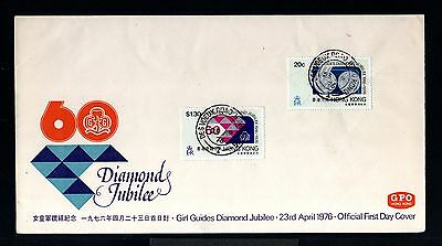 9327-HONG KONG-CHINA-FIRST DAY COVER DES VOEUX ROAD.1976.Diamonds jubilee.