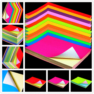 Color A4 Papers Self Adhesive Printing Sticky Shipping Sticker Label Fluorescent