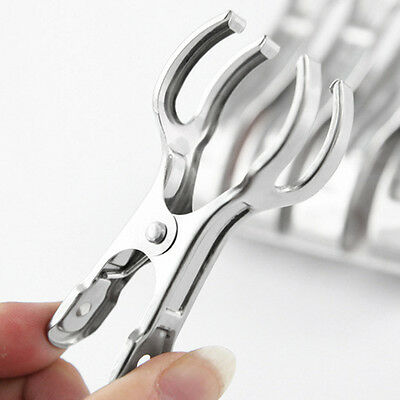 New Stainless Steel Clothes Pegs Hanging Pins Clips Laundry Windproof Clips G#