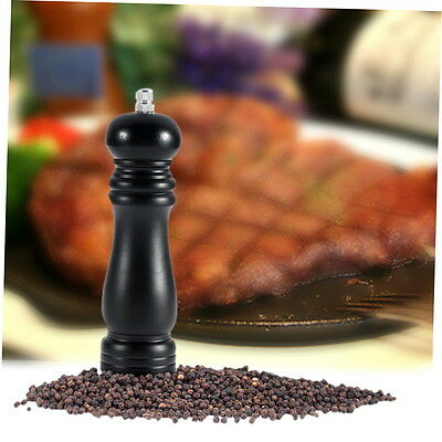 Home Kitchen Wood Chateauneuf Pepper Mill Shaker Pepper grinder black G#