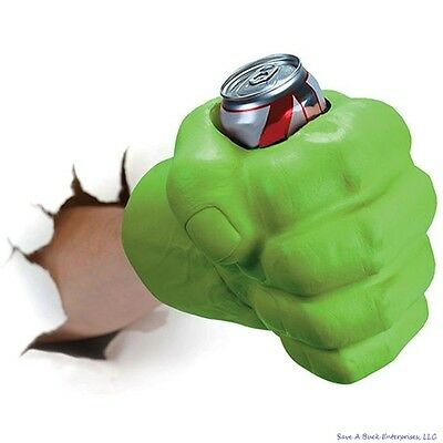 BigMouth THE BEAST GIANT GREEN HULK FIST Drink Beer Holder Foam Cooler Kooler