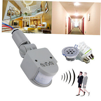 Outdoor AC 220V Automatic Infrared PIR Motion Sensor Switch for LED Light G#