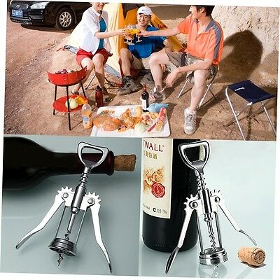 Stainless Steel Wing Red Wine Corkscrew Beer Bottle Opener Bar Restaurant G#