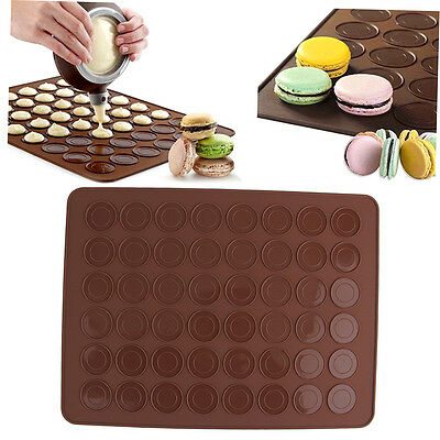 48 Silicone Macaron Macaroon Pastry Cookie Muffin Oven Baking Mat Sheet G#