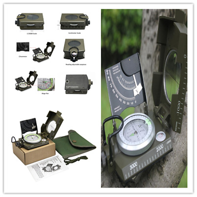 Professional Military Army Sighting Luminous Compass with Inclinometer G#