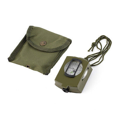 Pocket Military Army Green Geology Metal Compass For Outdoor Hiking Camping G#