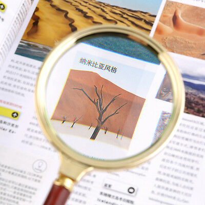 Classic 90mm Handheld 10X Magnifier Magnifying Glass Loupe Reading Jewelry G#