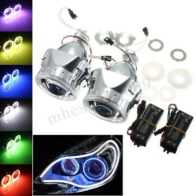 "2.5"" Halo Ring Angel Eye CCFL Bi-Xenon FX HID Projector Headlight Conversion Kit"
