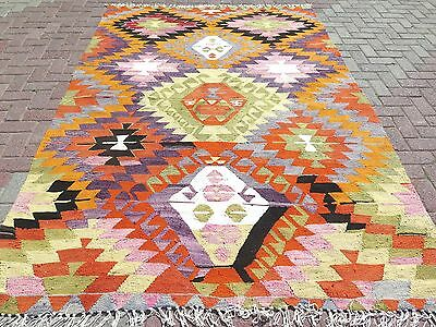 "Antique Anatolia Turkish Antalya(Barak)Kilim 73,6""x105,9"" Area Rug,Floor,Carpet"