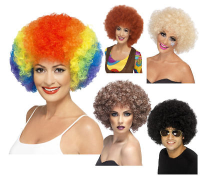Mens Ladies Afro Wigs 1970s Afro Fancy Dress Wig 70s