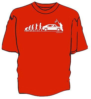 'Evolution of Man' Chequered flag t-shirt-  classic Alfa Romeo Alfasud