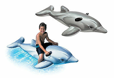 Intex Giant Inflatable Dolphin Ride On Beach Toy Swimming Pool Float Aid Lilo