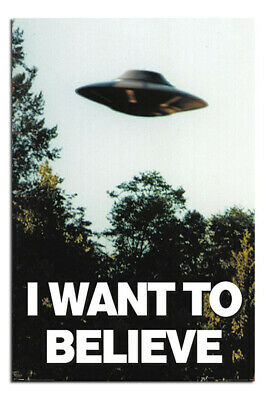 I Want To Believe X-Files UFO Poster New - Maxi Size 36 x 24 Inch
