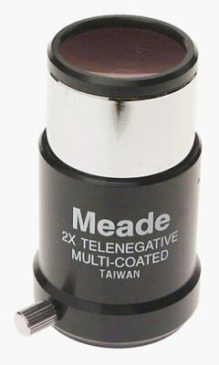 Meade 126 2x 1.25 inch (1-1/4 in.) Eyepiece Short Focus Barlow