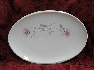 """Franciscan Duet, Pink Flowers: Oval Platter 15"""" AS IS"""