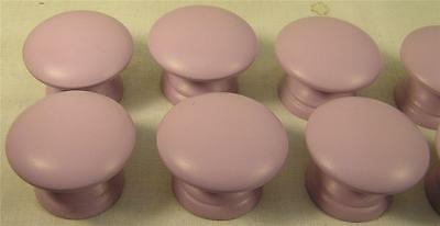 12 Painted Lavender Wood Knobs Handle Kitchen Bath Cabinet Furniture Hardware