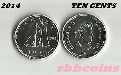 2014 Uncirculated Canada Ten Cents Dime - I Have More Canadian Coins Listed