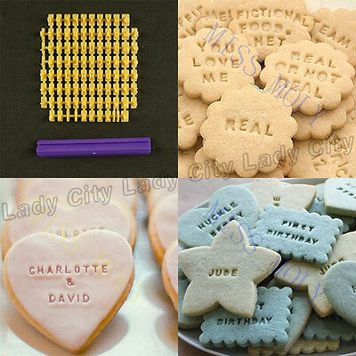 Icing Alphabet Number Letter Cake Cookie Pastry Embossed Stamp Cutters Tool Mom