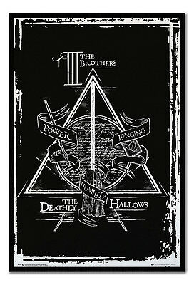 Framed Harry Potter And The Deathly Hallows Graphic Poster New