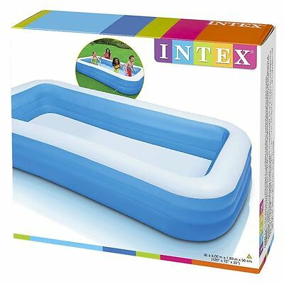 Intex 58484 Kinderpool Swim-Center Family Pool, Blau, 305 x 183 x 56 cm