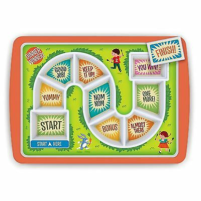 Dinner Winner Kids Plate Fred Board Game Fun For Fussy Eaters Divided Tray