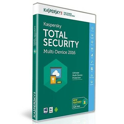 Kaspersky Total Security 2016 Multi Device 1 Year for PC/Mac/Android New Sealed