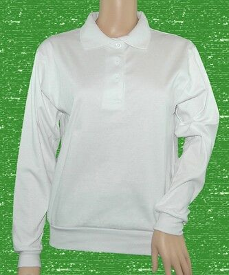 CATHEDRAL Ladies New Zealand Polo White Bowling Blouse Long Sleeve Ex Display