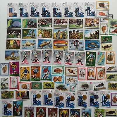 300 Different Belize Stamp Collection