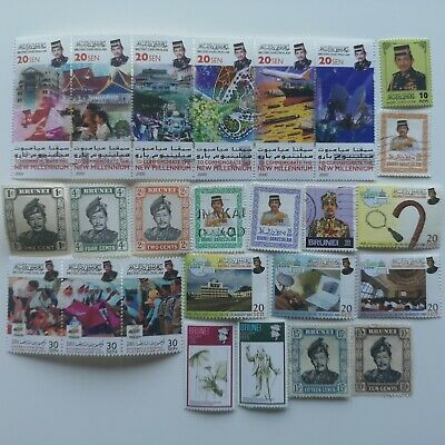 100 Different Brunei Stamp Collection