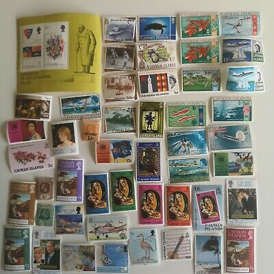 200 Different Cayman Islands Stamp Collection