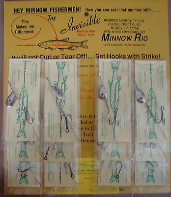 Duty's Invisible Minnow Rig With Silver Spinner Blade No.7 12 Rigs on each card
