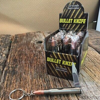 12 x 30-06 Bullet Pocket Knife Hand Gun Cartridge bullet Stainless Steel & CASE