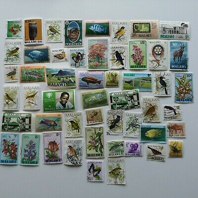 300 Different Malawi Stamp Collection