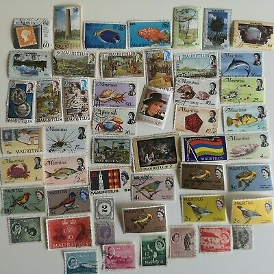 500 Different Mauritius Stamp Collection