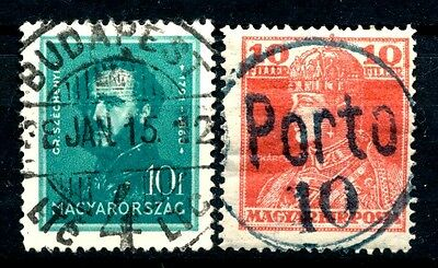 No: 44575 - HUNGARY - LOT OF 2 OLD STAMPS - NICE CANCELS!!