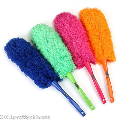 Soft Microfiber Cleaning Feather Duster Magic Anti Static Dust Cleaner For Home
