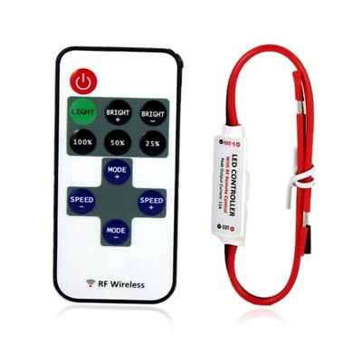 12V RF Wireless Remote Switch Controller Dimmer for Mini LED Strip Light New GH