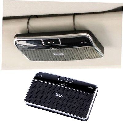 Bluetooth 4.0 Hands-free Multipoint Speakerphone Speaker Car Kit Sun Visor G#