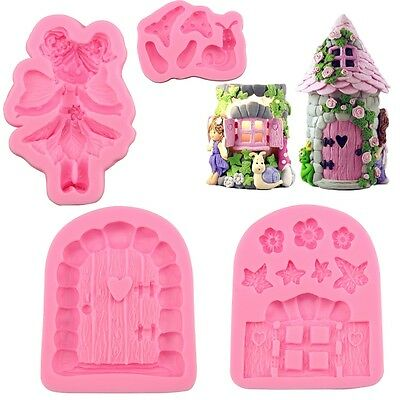 3D House Door DIY Silicone Fondant Mould Cake Decoration Chocolate Cutter New