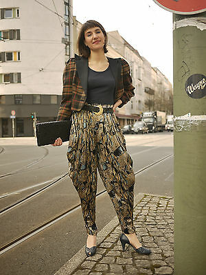 Stoff HOSE MC Hammer 80er TRUE VINTAGE 80´s pants trousers SHINY METALIC GOLD