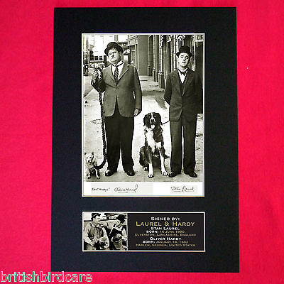 LAUREL AND HARDY No1 Autograph Mounted Signed Photo RE-PRINT Print A4 19
