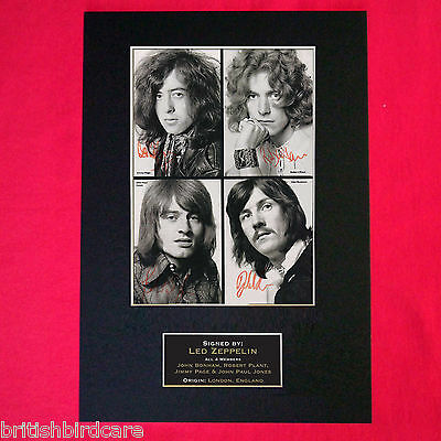 LED ZEPPELIN No1 Mounted Signed Photo Reproduction Autograph Print A4 206
