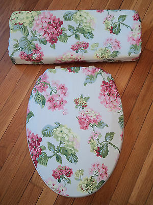 Matches Waverly Rolling Meadow Shower Curtain Hydrangea ..Toilet Seat Cover Set