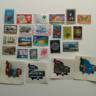 300 Different Norfolk Island Stamp Collection