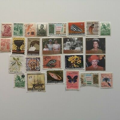 300 Different Papua New Guinea Stamp Collection