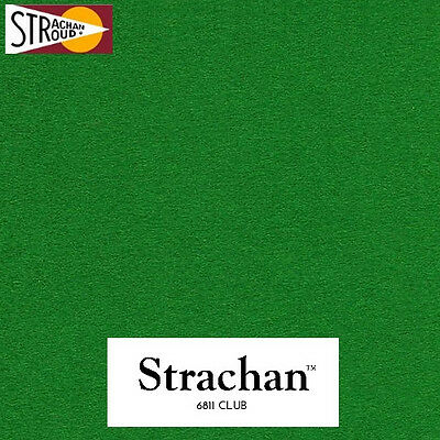 Strachan 6811 Club Snooker Table Cloth - 8ft Bed and Cushions - Green